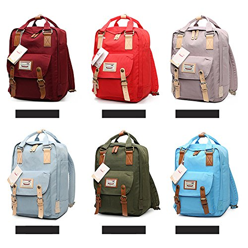 GUCHIS Canvas Casual Backpack Waterproof High Capacity School Daypack Mummy  Bag 831e97137d