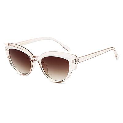 LINANNAV Señora Ojos de Gato Gafas de Sol Protección UV Lente Oscura Conducción al Aire Libre Viajar Playa de Verano (Color : Light Tea Box): Hogar