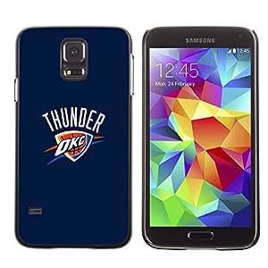 OKC Basketball Caja protectora de pl¨¢stico duro Dise?ado King Case For Samsung Galaxy S5