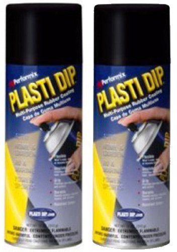 2 PACK PLASTI DIP Mulit-Purpose Rubber Coating Spray BLACK 11oz by Plasti Dip