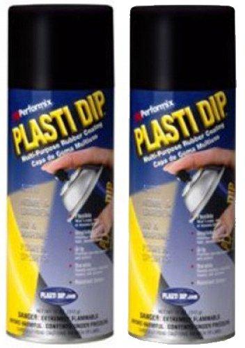 (2 PACK PLASTI DIP Mulit-Purpose Rubber Coating Spray BLACK 11oz)