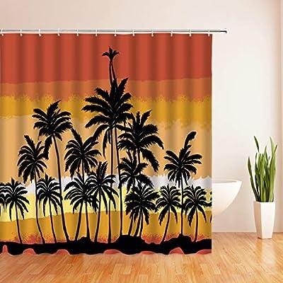 n Forest Plant Juego de mampara de baño Impermeable con 12 Piezas Ganchos Paisaje Cortina de Ducha Cortina de baño para baño Decoración del hogar: Amazon.es: Hogar