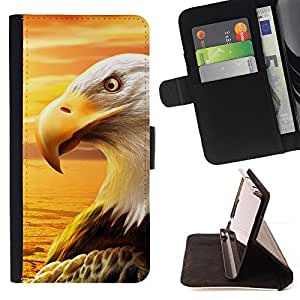 DEVIL CASE - FOR Sony Xperia M2 - Eagle Royal Flying Desert Bird Magnificent - Style PU Leather Case Wallet Flip Stand Flap Closure Cover