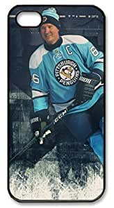 LZHCASE Personalized Protective Case for iPhone 5 - NHL Pittsburgh Penguins #66 Mario Lemieux