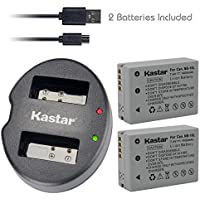 Kastar Battery (X2) & Dual USB Charger for Canon NB-10L, NB10L and PowerShot SX40 HS SX40HS, SX50 HS SX50HS, G1 X G1X, Powershot G15, PowerShot G16 Digital Cameras