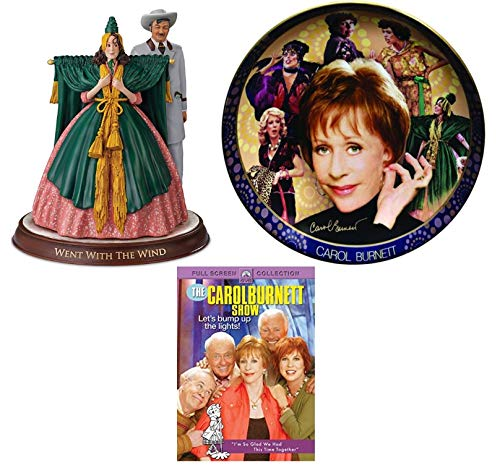 Ultimate Carol Burnett Show Commemorative Collection: Lets Bump Up the Lights (DVD) / Scarlett O'Hara Went with the Wind Figurine / Timeless Comedy Collector's Plate