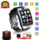 Bluetooth Smart Watch Touchscreen with Camera,Unlocked Watch Cell Phone with Sim Card Slot,Smart Wrist Watch,Waterproof Smartwatch Phone for Android Samsung IOS Iphone 7 6S Men Women Kids (Silver, L)