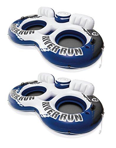 Intex River Run II Water Tube Float Raft Lounger W Cooler Model 58837EP (2 Pack)