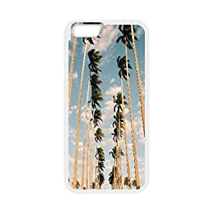 California Palm Trees Travel Inspiration IPhone 6 Plus Case, [White]