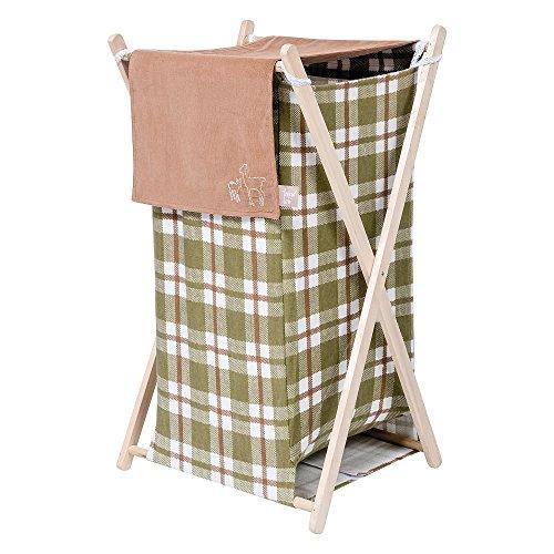 Trend-Lab-Deer-Lodge-Cream-Plaid-Hamper-Set