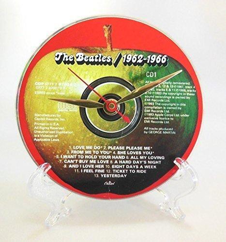 The Beatles Desktop Clock – Handmade with the original Beatles CD: The Beatles 1962-1966