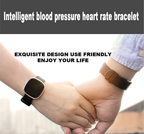 Igrosso Fitness Tracker Heart Rate Monitor, Smart Bracelet Waterproof Swimming Sport Wristband, Blood Pressure Monitor, Smart band Pedometer Calorie Smart Watch for Apple IOS Android phone (Silver)