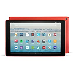 """All-New Fire HD 10 Tablet with Alexa Hands-Free, 10.1"""" 1080p Full HD Display, 32 GB, Punch Red - with Special Offers"""
