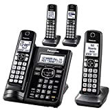PANASONIC KX-TGF544B Expandable Cordless Phone with Call Block and Answering Machine - 4 Handsets