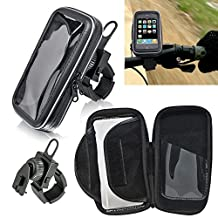 Motorcycle Handlebar Holder Mount Case fits Samsung Galaxy S5, S5 Active with Otterbox Defender Case on it.