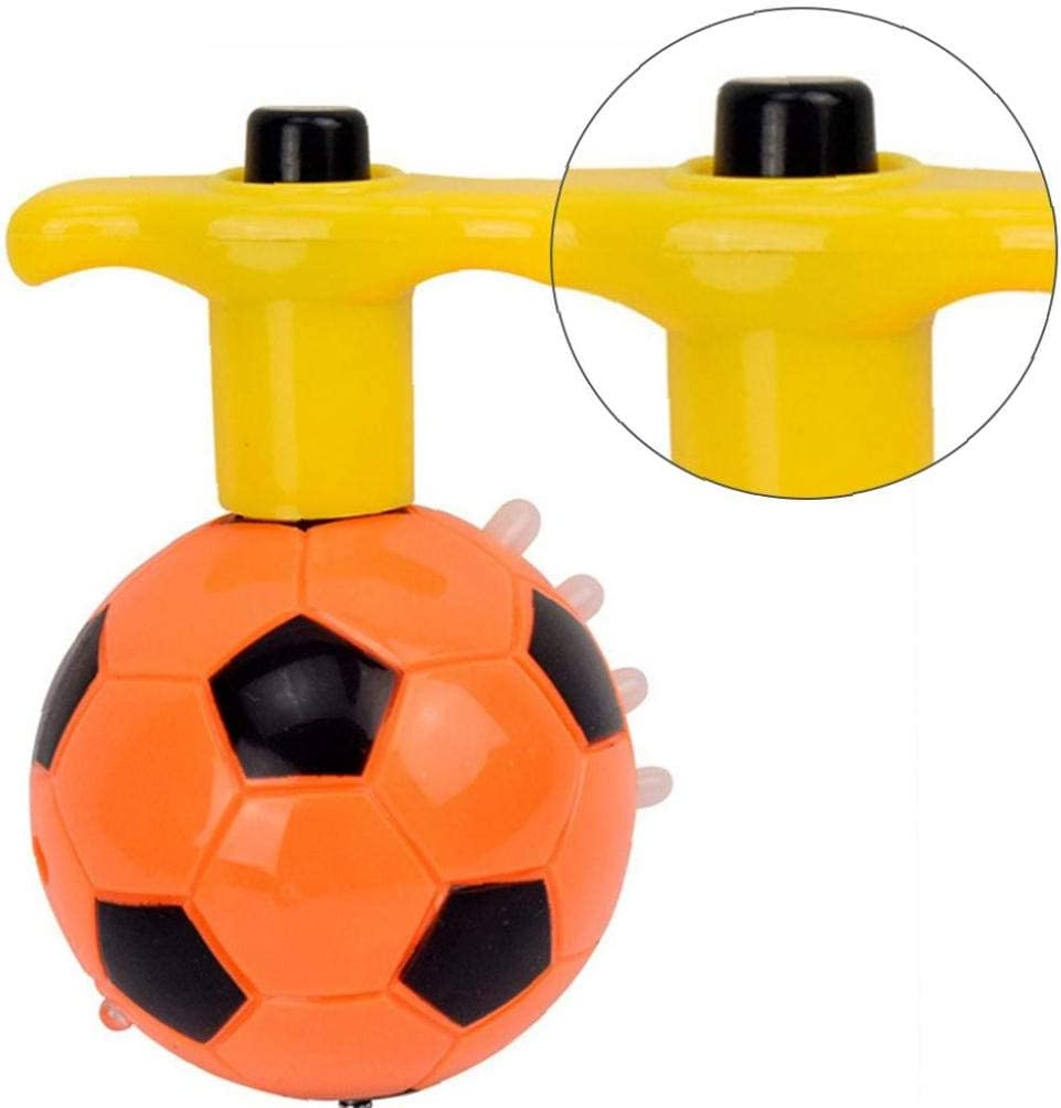 Professional LED Light Up Clignotant Toupies Clignotant Musique Gyro Toupie Gyro LED Spinner Musique Flash Light Football Gyro Toy