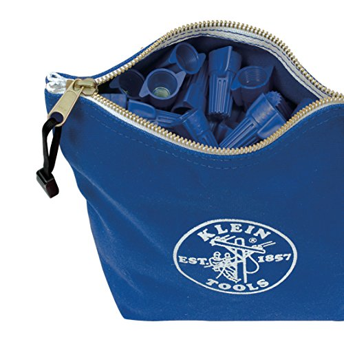 Canvas Zipper Bag- Consumables, Blue Klein Tools 5539BLU