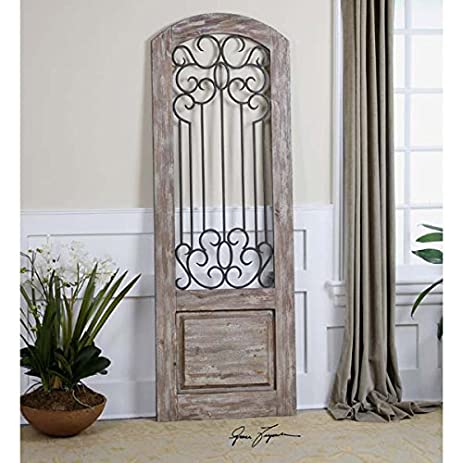 Wood and metal gate wall decor