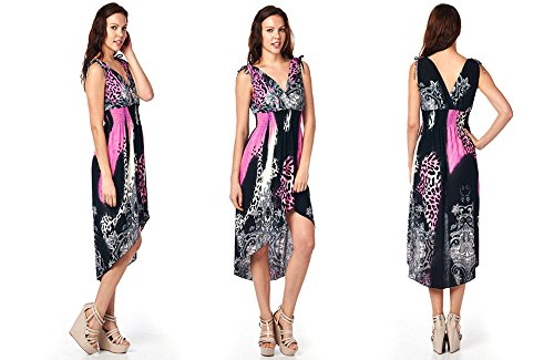 Frenchic Collection Women's Printed High Low Summer Beach Dress (M-3XL)