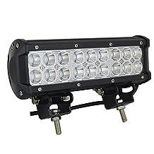 "AUXTINGS 9"" inch 54W LED Light Bar Spot Beam 5000lm for Offroad Pick up trucks SUV 4WD AWD ATV UTV Boat Jeep Van Wagon Van Camper F150(2Pcs)"