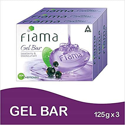 Fiama Di Wills Bearberry And Blackcurrant Gel Bar, 125g (Pack Of 3)