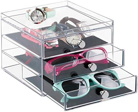 mDesign Caja para Gafas y Gafas de Sol – Preciosa cajonera para ...