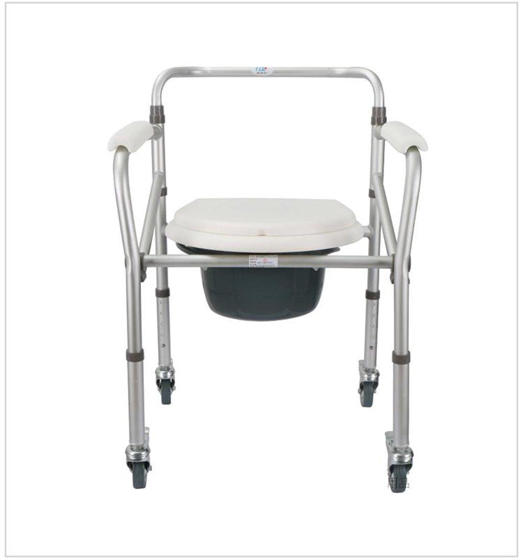 トイレの椅子、折りたたみ可能な可動式の滑り止めのバスルーム老人の妊婦のトイレの椅子 B078PSV28V
