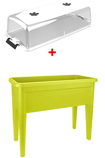Angebot Hochbeet Green Basics Grow Table Xxl Lime Deckel Amazon
