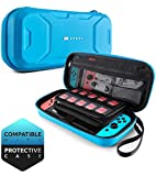 Video Games : Mumba Carrying Case for Nintendo Switch, Deluxe Protective Travel Carry Case Pouch for Nintendo Switch Console & Accessories [Dual Protection] [Large Capacity] (Blue)