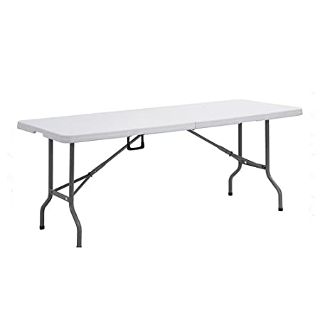 EXTRA STRENGTH OYPLA 6FT HEAVY DUTY TRESTLE WHITE FOLDING BANQUET PARTY GARDEN OUTDOOR /& INDOOR CAMPING PORTABLE TABLE UPTO 400KG LOAD CAPACITY
