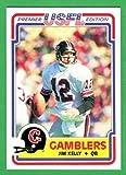 Jim Kelly 1984 Topps USFL Football Rookie Reprint Card (Gamblers) (Bills)