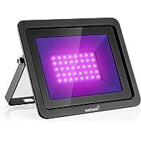 Everbeam 365nm 50W UV LED Black Light - High Performance LED Bulbs, IP66 Waterproof - Ultraviolet Flood Lighting for…