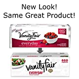 Vanity Fair Everyday Napkins, 660 Count, White Paper Napkins