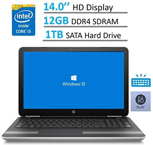 HP Pavilion 14'' HD WLED-backlit Display (1366x768) Laptop PC, Intel Core i5-6200U, 12GB RAM, 1TB HDD, B&O Play, Bluetooth, Backlit Keyboard, Up to 10 hours battery life, Windows 10
