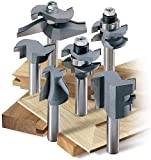 MLCS 8389 Woodworking Pro Cabinetmaker Router Bit Set with Undercutter, 6-Piece by MLCS