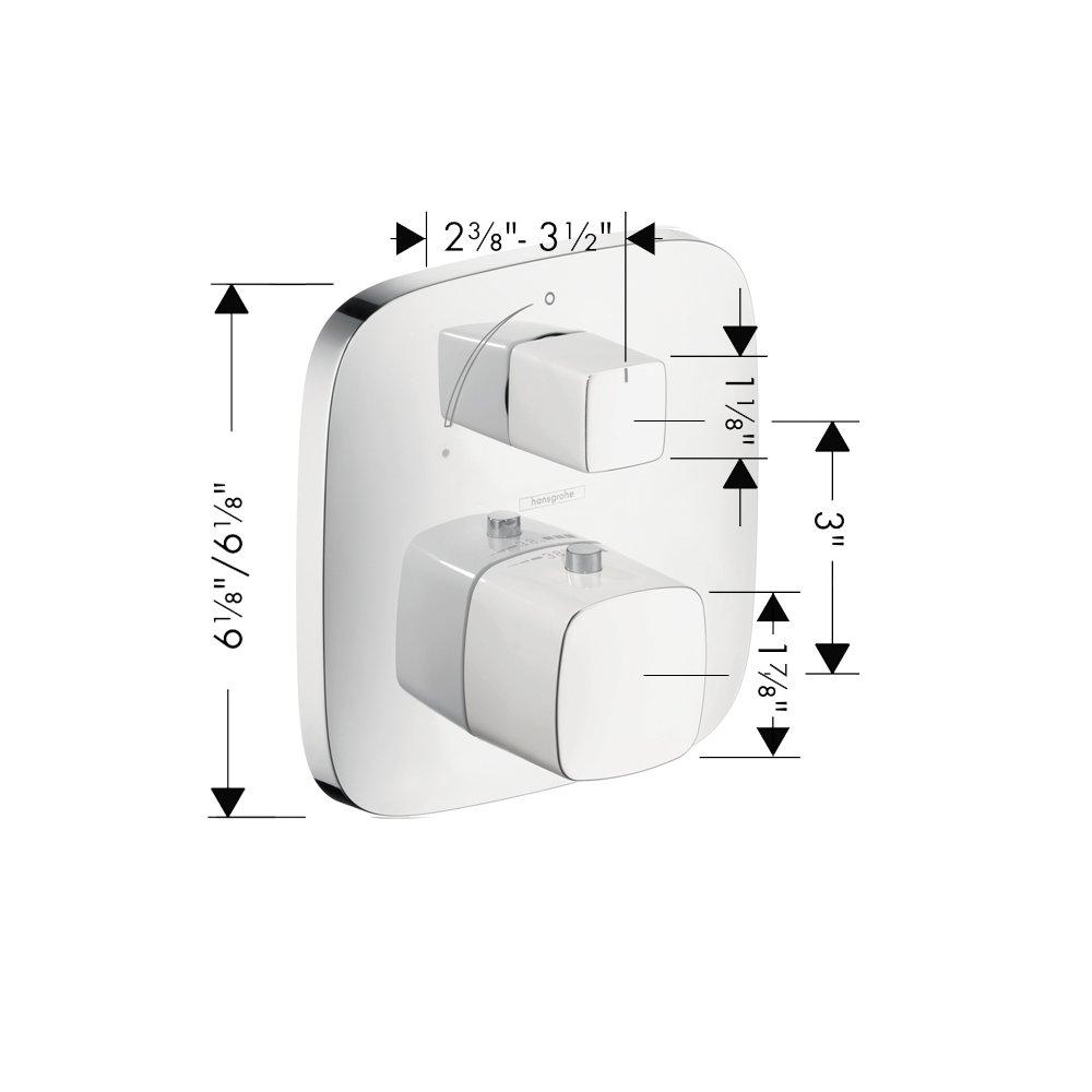 Hansgrohe 15775401 PuraVida Thermostatic Trim with Volume Control White//Chrome