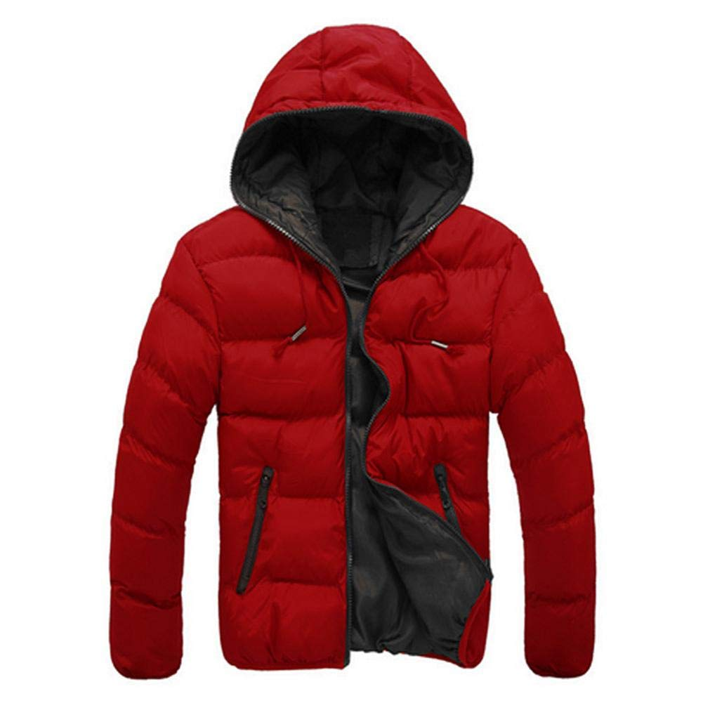 be88fd519102 Innersetting Simple Men Hooded Jacket Coat Winter Padded Warm Down Casual  Thick Outwear: Amazon.in: Clothing & Accessories