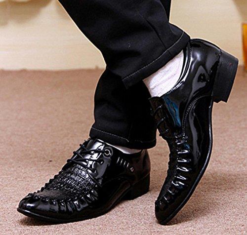 42 Para Hombre Cuero Negocios De Transpirables Vestir Zapatos Mlsopx 8tq0RS