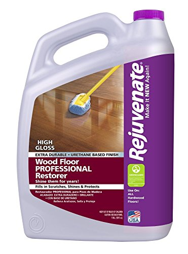 Rejuvenate Professional Wood Floor Restorer High Gloss, 128 Fluid Ounce - Rejuvenate Hardwood Floor