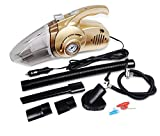 Fochutech Car Vacuum Cleaner Wet Dry Four in One DC 12V 120W Handheld Auto 14.76FT/4.5M Power Cord Mini Tire Inflation Pressure Monitoring LED