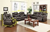 NHI Express James Motion Loveseat & Console (1 Pack), Brown