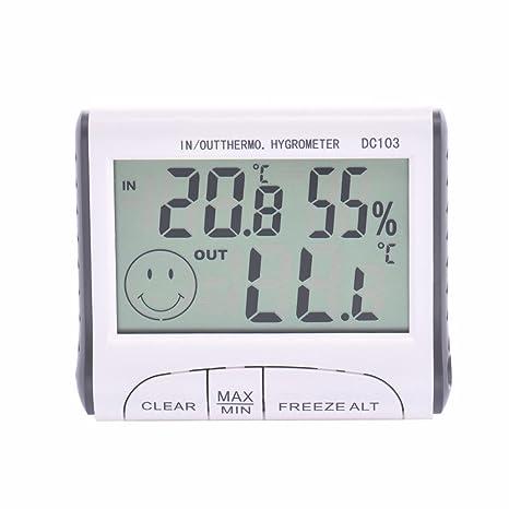 Reloj termómetro Digital, higrómetro, estación meteorológica, función al Aire Libre en el Interior