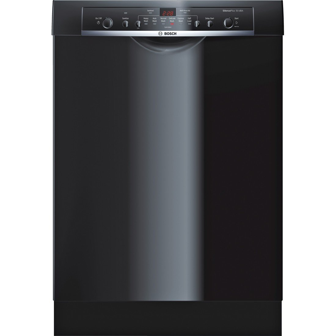 Bosch SHE3AR76UC Ascenta 24' Black Full Console Dishwasher - Energy Star