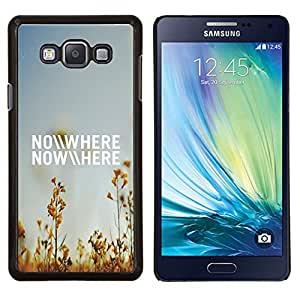 TECHCASE---Cubierta de la caja de protección para la piel dura ** Samsung Galaxy A7 ( A7000 ) ** --En ninguna parte del campo del verano Cielo azul Naturaleza