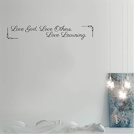 com vinly art decal words quotes love god love others love