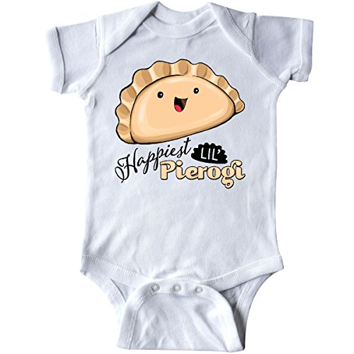 Onesie Food (inktastic - Happiest Lil' Pierogi Infant Creeper 6 Months White)
