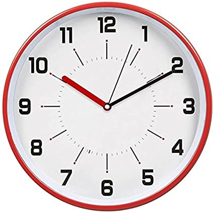 Hito Silent Wall Clock Non Ticking 12 Inch Excellent Accurate Sweep  Movement Magnetic Metal Frame,