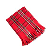 """Red Woven Checkered Throw Blanket, 50""""x60"""""""