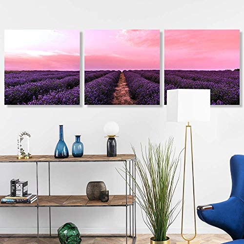 3 Panel Romantic Lavender Pictures Home Wall s for Bedroom Living Room Paintings Framed 24 Panels