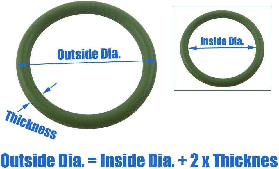 Size : 155x149x3mm 5pcs 3mm Thickness Green FKM O Rings Gasket Washer 150//155//160//165//170//175//180//185//190//195//200mm OD O-Ring Hole Sealings